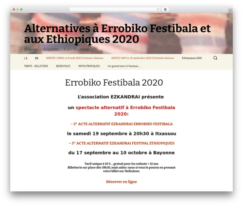 Twenty Thirteen best free WordPress theme - errobikofestibala.fr
