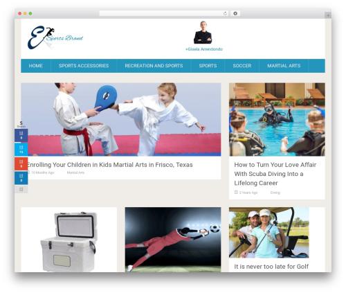 WordPress theme SociallyViral by MyThemeShop - esportsbrand.com