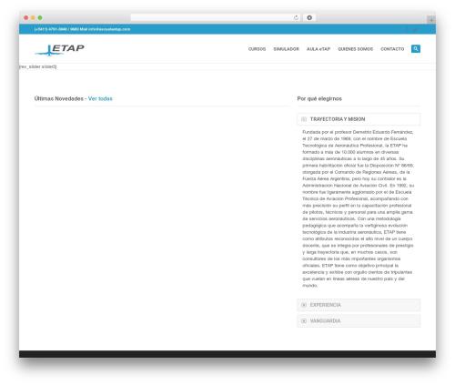 WordPress theme System - escuelaetap.com