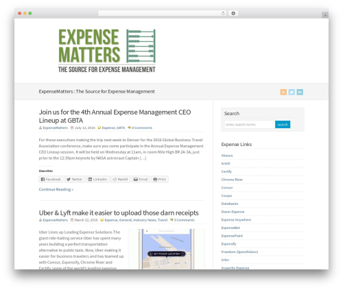 WP-Brilliance WordPress template - expensematters.com