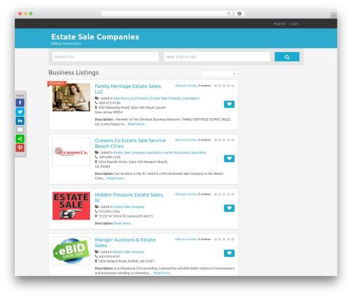 Best WordPress template FlatPage - estatesalesguide.com