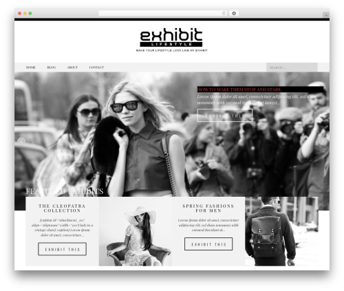 Black And White WordPress theme - exhibitlifestyle.com