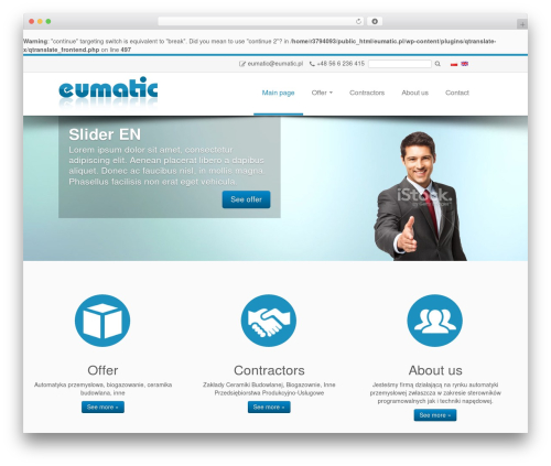 Customizr free website theme - eumatic.pl