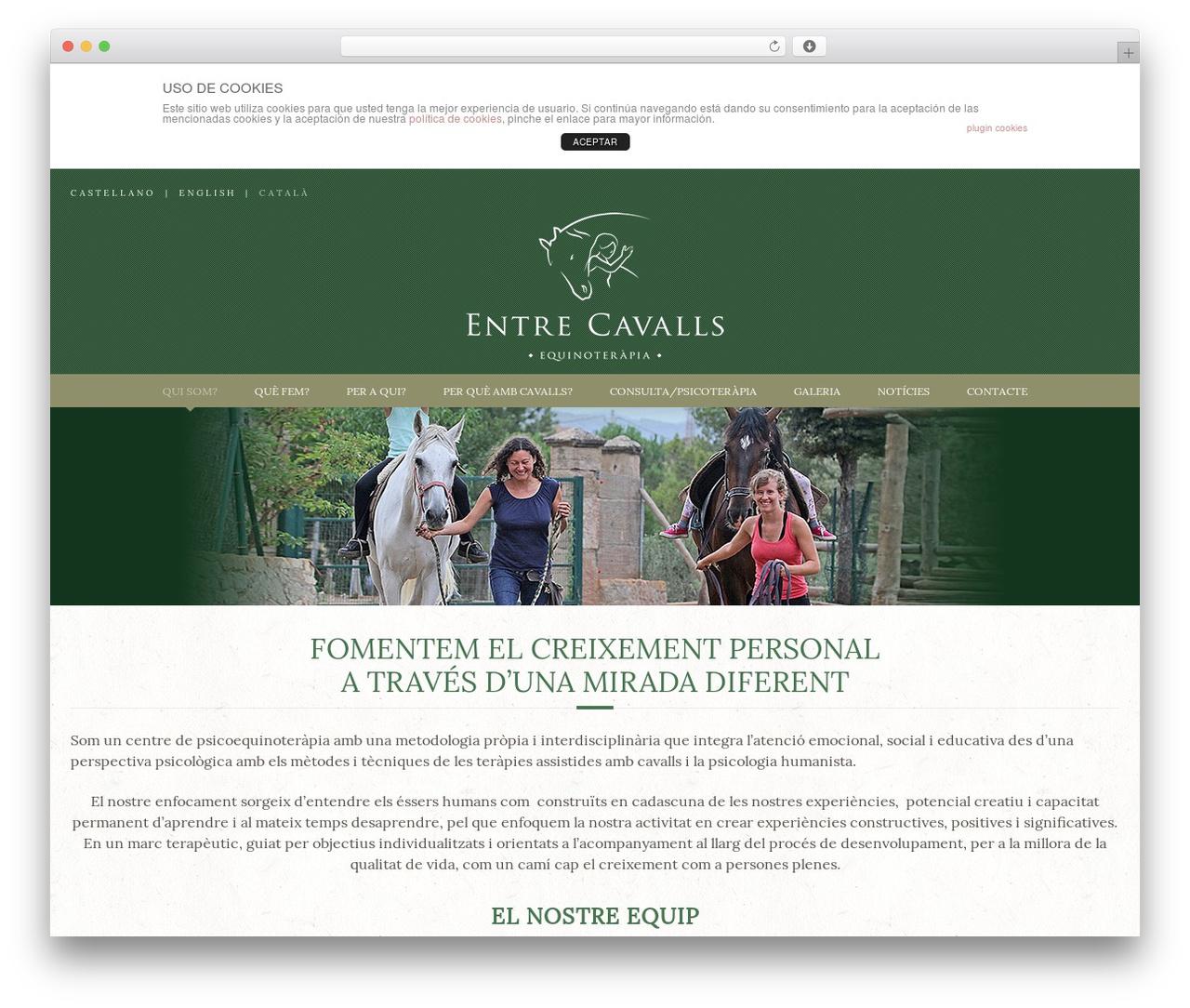 Equestrian WordPress theme - entrecavalls.com/?password-protected=login&redirect_to=entrecavalls.com