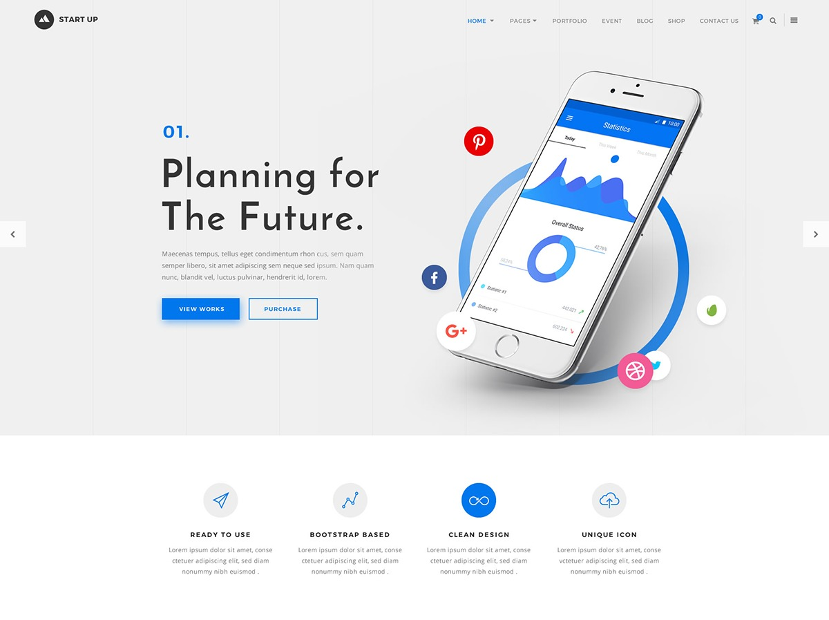 G5 Startup premium WordPress theme