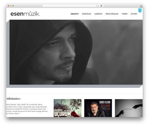 MusicPlay WordPress template - esenmuzik.com