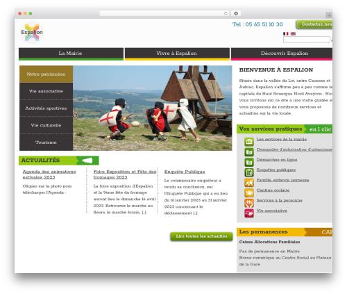 Theme BMS WordPress theme design - espalion.fr