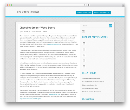 WordPress theme Cell - etodoorsreviews.net