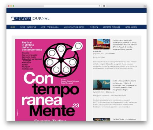 WordPress website template Avada - europejournal.eu