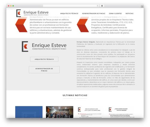 WordPress website template Specular - enriqueesteve.com