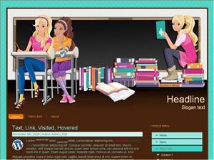 Books For Education WordPress blog template