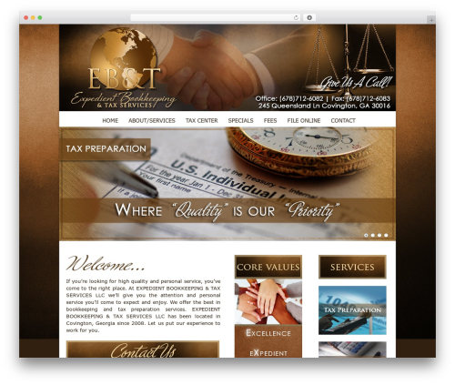 Current premium WordPress theme - expedientbookkeepingandtax.com