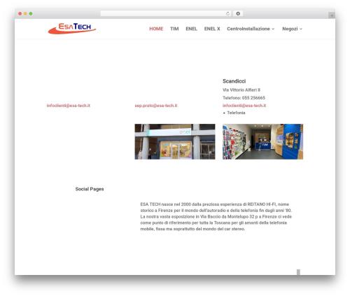 Divi WordPress theme - esa-tech.it