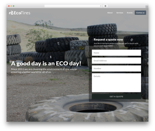 Getleads best WordPress template - ecotires.ro