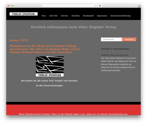 Livre WordPress template - engstler-verlag.de