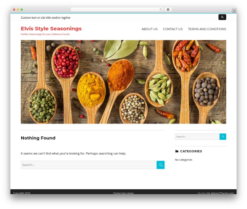 Nucleus best free WordPress theme - elvisstyleseasonings.com