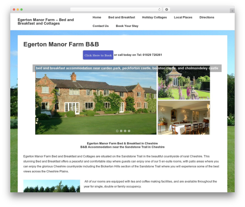 Responsive best free WordPress theme - egertonmanorfarm.co.uk