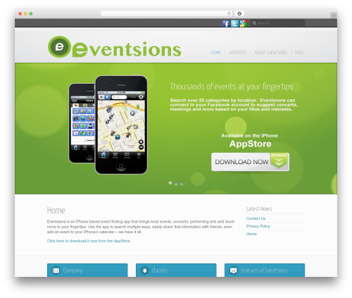 Template WordPress Inspire - eventsions.com
