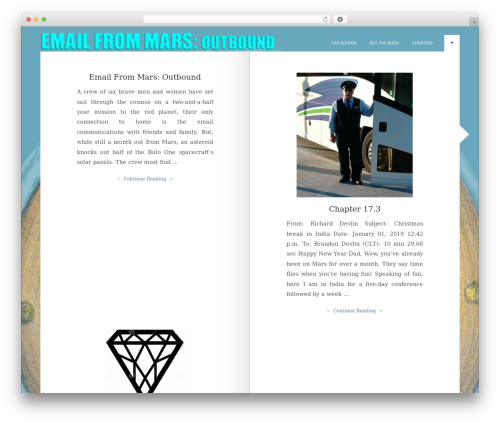 The Novelist best WordPress template - emailfrommars.com/outbound