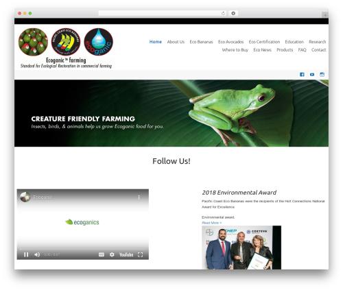 WordPress theme Celestial - eco-banana.com.au