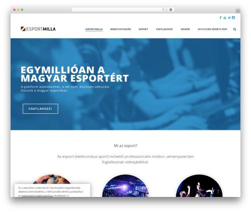 WordPress theme Jupiter - esportmilla.hu