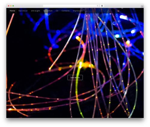 WordPress website template Arcade Basic - extralight.de
