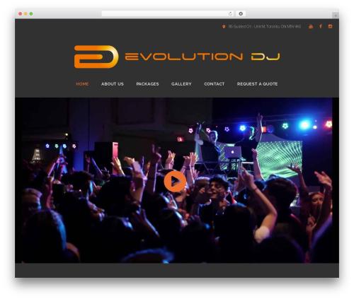 Best WordPress theme Caldera - evolutiondj.ca