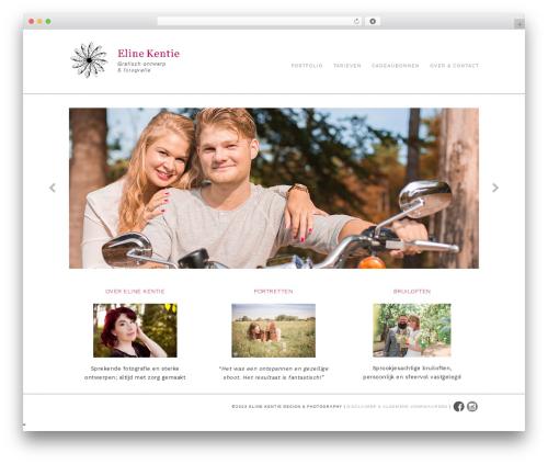 Portafolio WordPress theme - elinekentie.nl