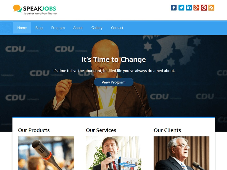 Speaker Pro WordPress theme image