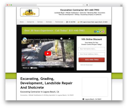 Theme WordPress Local Lead Arsenal - excavationlagunabeach.com