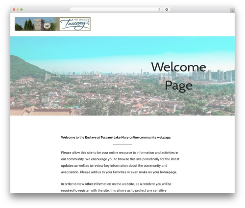 Theme WordPress Mins - enclavetuscany.com