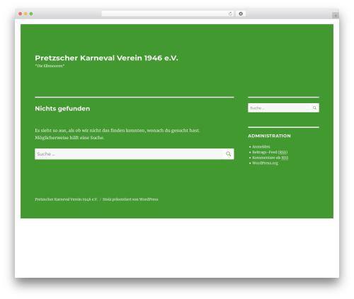 Twenty Sixteen best WordPress theme - elbmooren.de