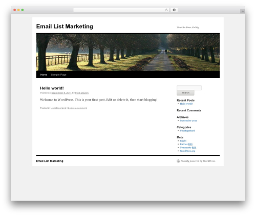 Twenty Ten WordPress free download - email-list-marketing.org