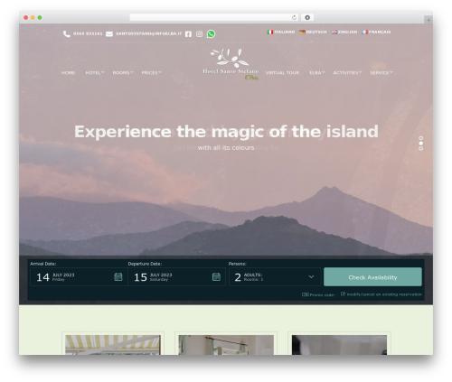 WordPress template Santorini Resort - elbahotelelba.com