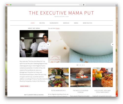 WordPress theme Foodie Pro Theme - executivemamaput.com