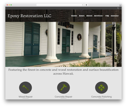 WordPress website template Pinnacle - epoxynet.com
