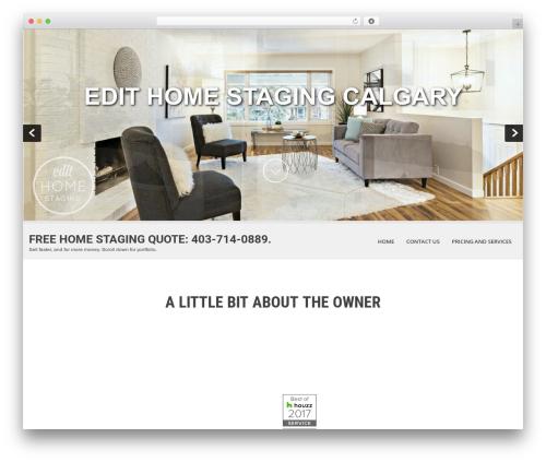 WordPress website template SKT White - edithomestaging.ca
