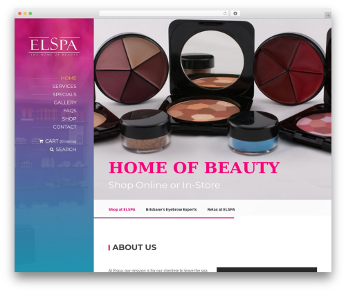 BeautySpot WordPress theme - elspa.com.au