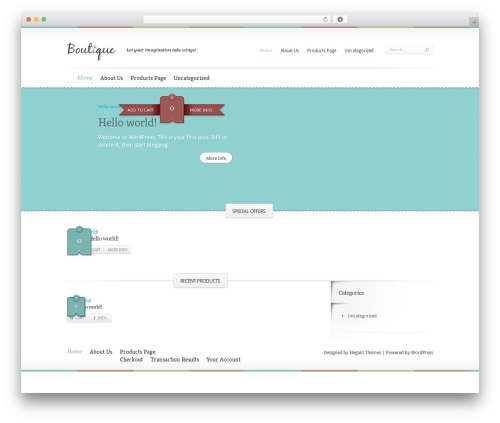 Boutique template WordPress free - eaglewingscreations.com