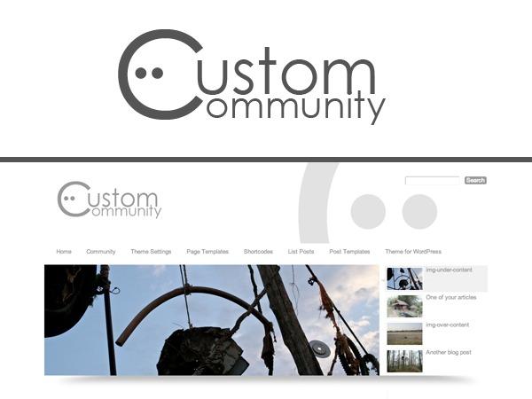 Custom Community WordPress news theme