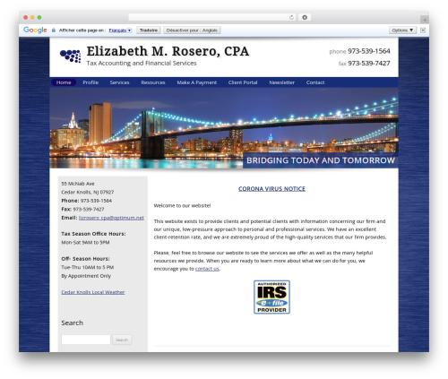 Customized WordPress template for business - eroserocpa.com