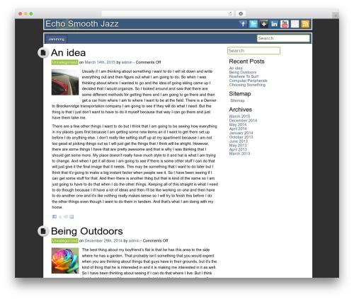 DroidPress WordPress theme download - echosmoothjazz.com