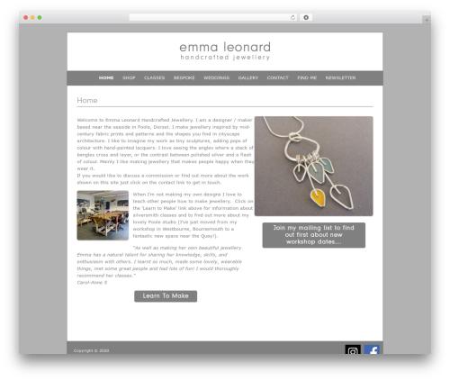 Fresh & Clean WP template - emma-leonard.co.uk