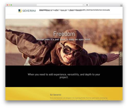WordPress template Divi - edseverini.com