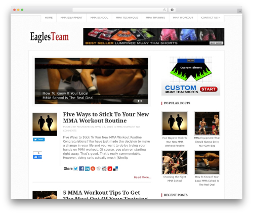 WordPress theme Top - eaglesteamthai.com