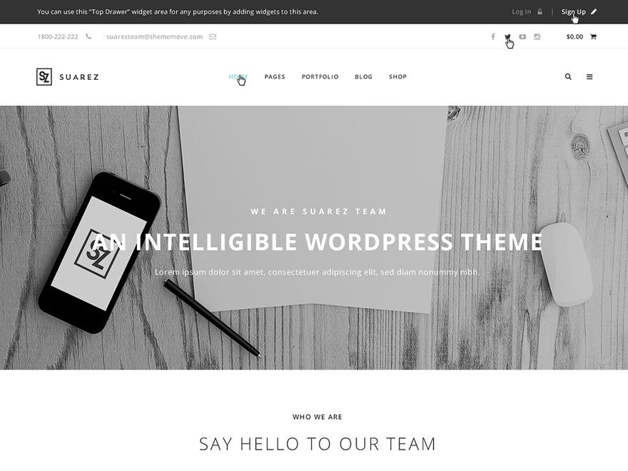 WP Suarez WordPress news template
