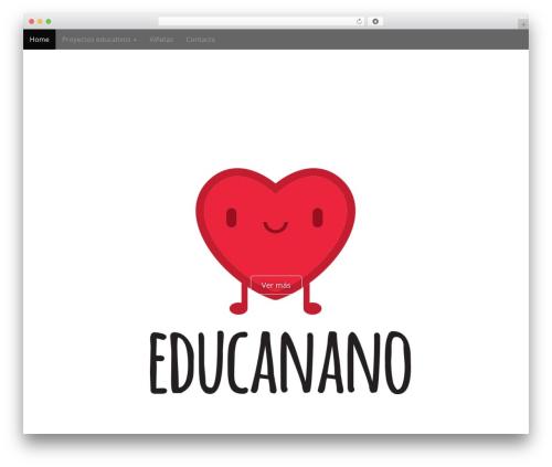 Arcade Basic free WP theme - educanano.es