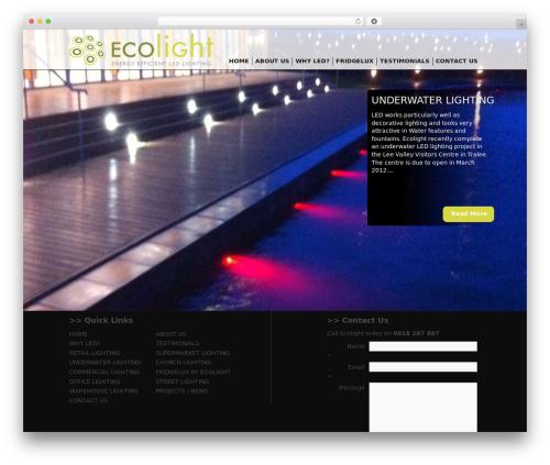 Best WordPress template BLANK Theme - ecolight.ie