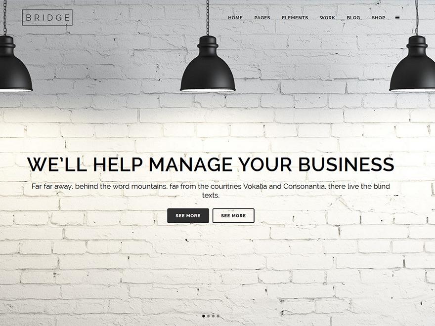 Bridge WordPress website template
