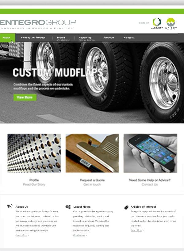Entegro WordPress template for business